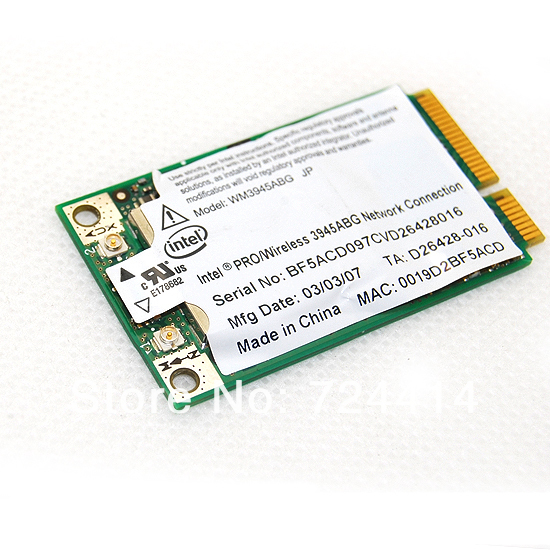 Wireless Intel 3945 3945ABG 54Mbps Full PCI-E Wifi Network Card For Laptop