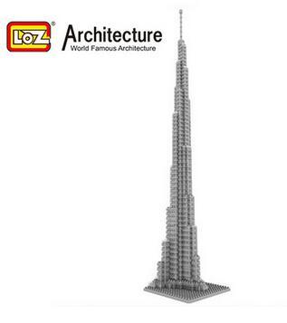 Kids Educational Toys Cubic Fun 3D Puzzle Burj Dubai Model DIY Puzzle Children Toys Birthday Gifts(China (Mainland))