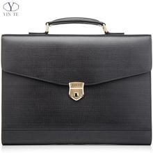 New Fashion Men Leather Briefcase High Quality Laptop Briefcase Office Bag Lawyer Messenger Handbag Teacher Business Portfolio(China (Mainland))
