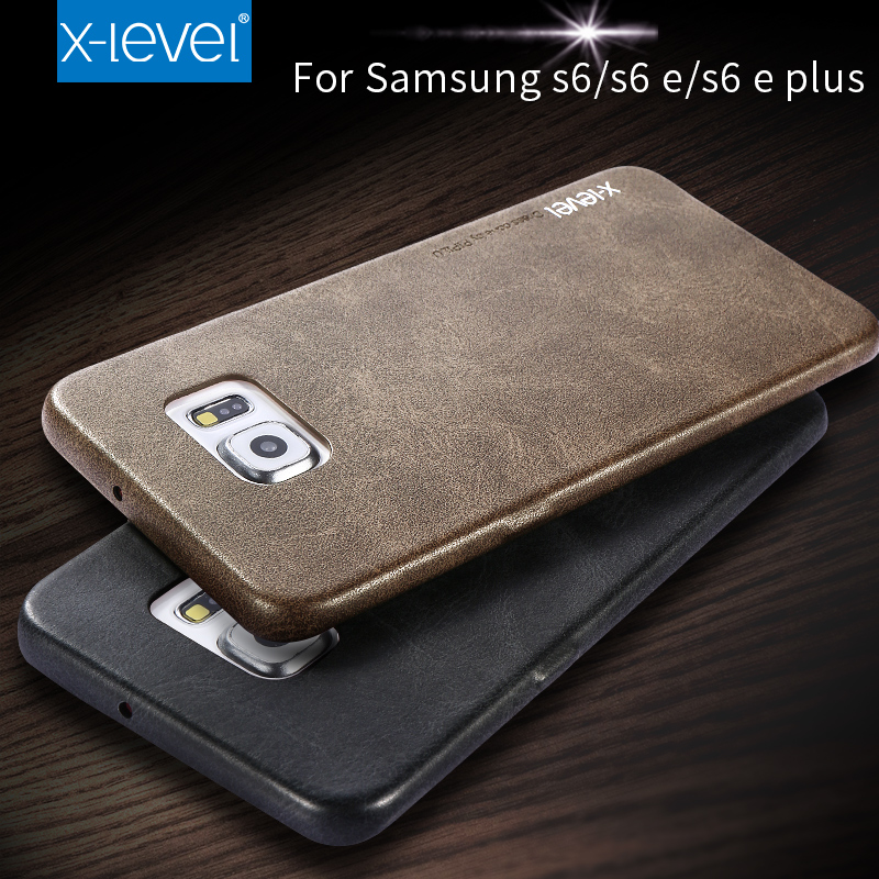 X-Level Leather Phone Case For Samsung Galaxy S6 S6 edge S6 edge plus Ultra thin PU Back case For Samsung S6 edge plus(China (Mainland))