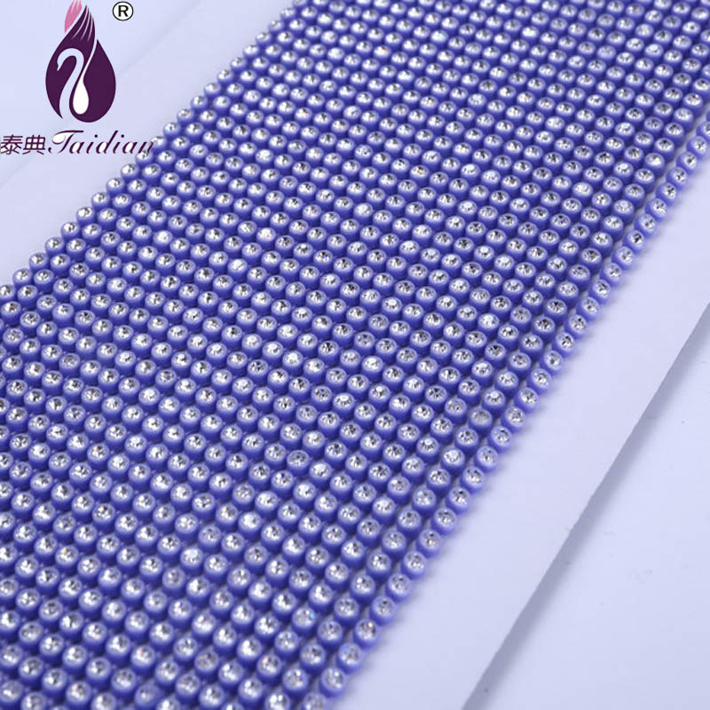 New Arrival 10 yards/lot Clear Stone Plastic Cup Chain Rhinestone Banding ss6 Plastic Cup Trimming Home Garden Jewelry Finding(China (Mainland))