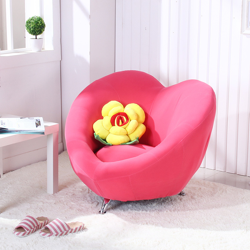 Solo highqualitylove shape lazy sofa children chair exquisite couch countryside computer stool Kids lounge sofa