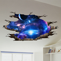the Milky Way Universe 3D Wall Stickers Creative Wall Decals DIY Home Decor Sticker for Kids