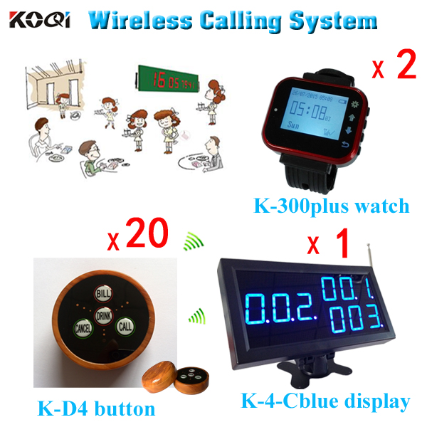 ( 1 Screen + 2 Vibrate Watch + 20 Caller ) Wireless Paging System Casino Watch Caller Restaurant Equipment With CE(China (Mainland))