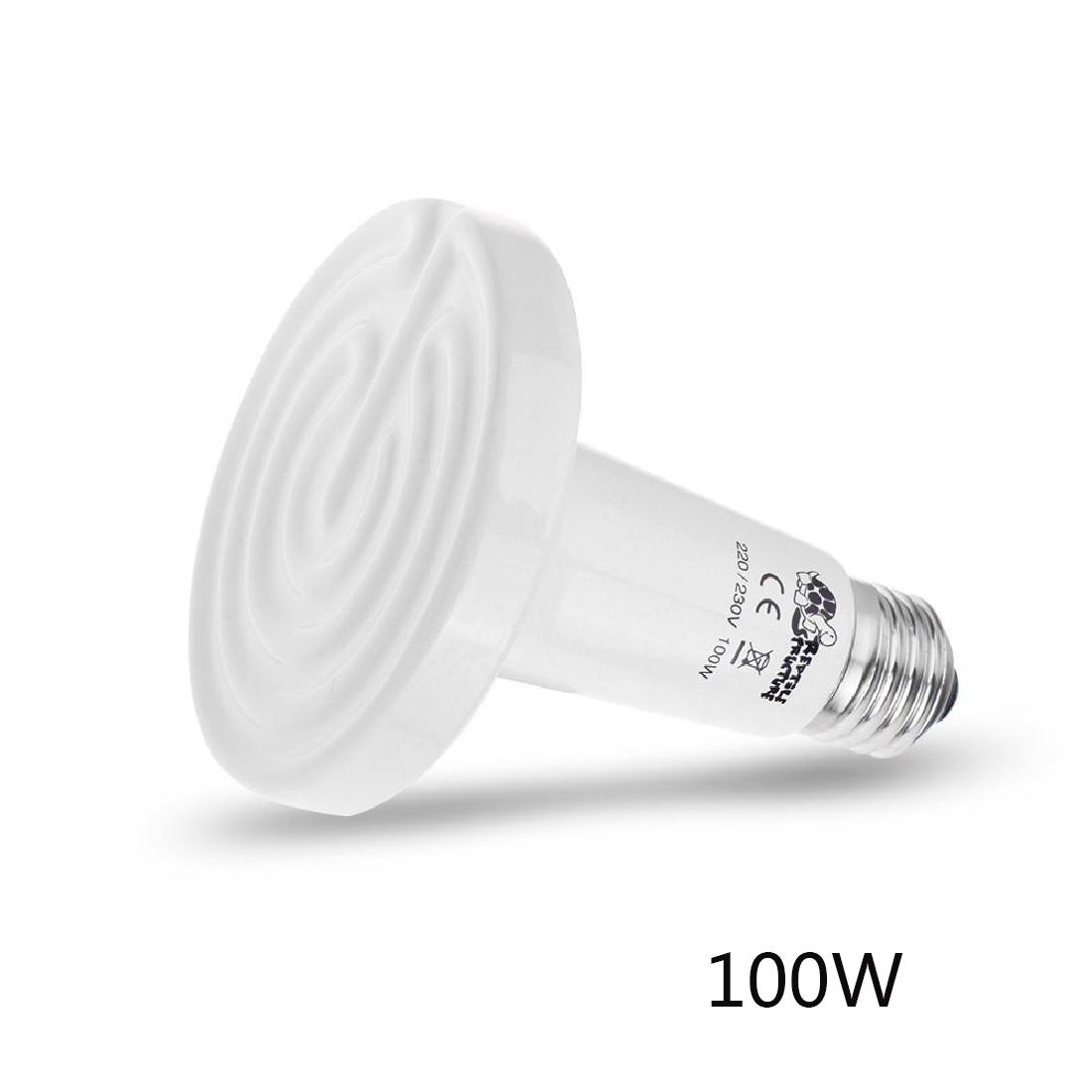 New 100W Ceramic Emitter Heat Lamp Reptile Heater White(China (Mainland))