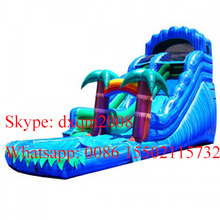 Giant Jungle theam Wave Inflatable Water Slide For Sale/Wave Floating Inflatable Water Slid Commercial Sale(China (Mainland))