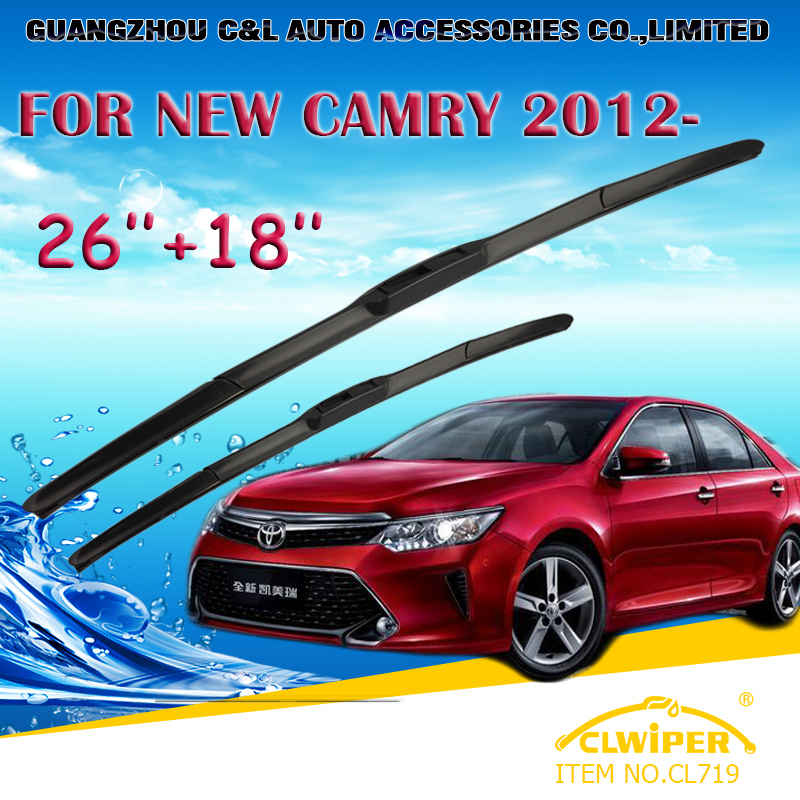 """For TOYOTA NEW CAMRY (2012- ) Exclusive Car Windshield Windscreen Wiper Blade 26""""+18"""" Fast shipping Cars styling accessories(China (Mainland))"""