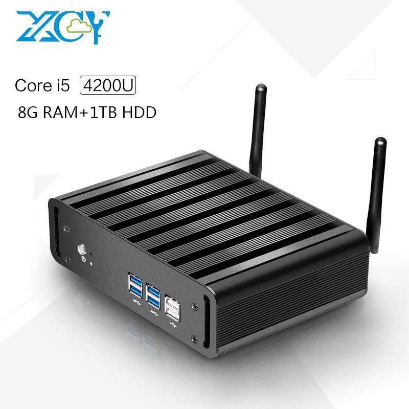 Factory Price X31-i5 4200u 1.6G HZ Desktop Mini Slim PC Fanless mini computer Support win7, win8.1, linux, ubuntu 8G RAM 1TB HDD(China (Mainland))