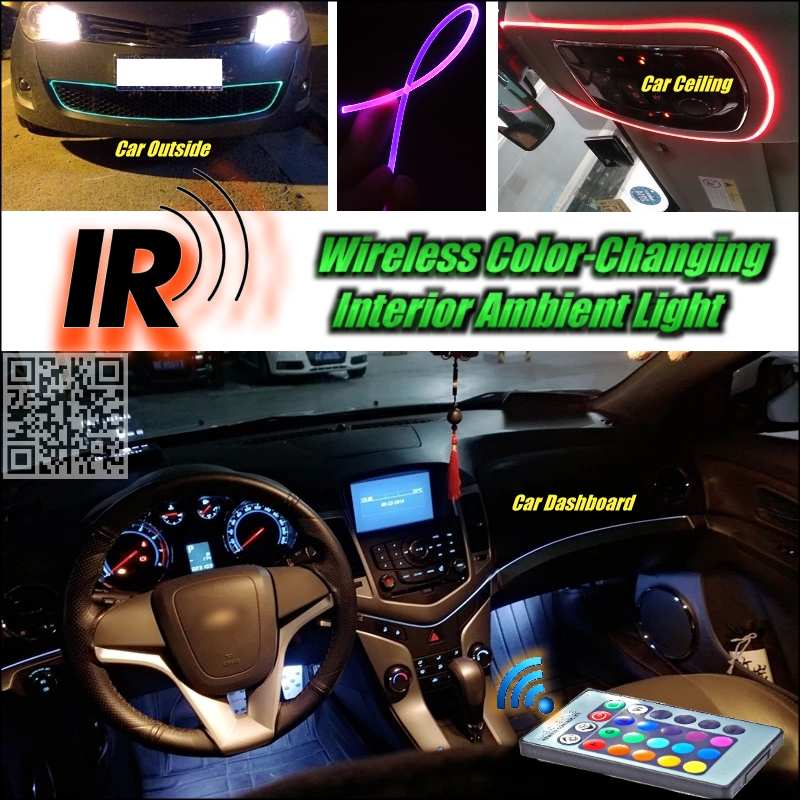 Wireless IR Control Car Interior Ambient 16 Color changing Light Dashboard Light For Ford Taurus(China (Mainland))