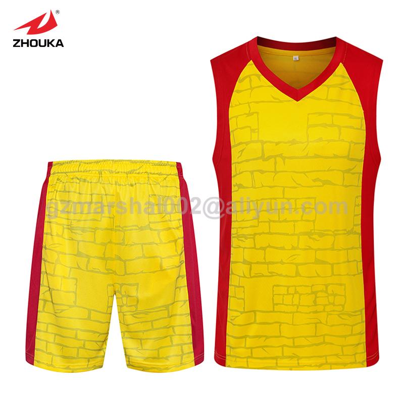 Wholesale popular design cheap Basketball jersey set fast shipping(China (Mainland))