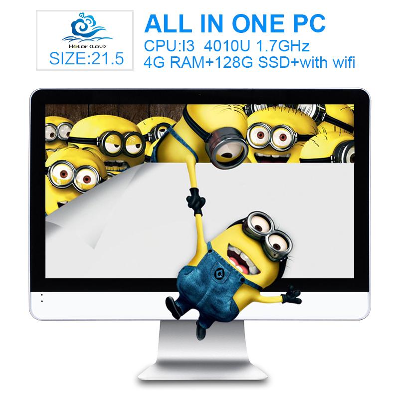 "Hot on sale All-in-one PC 21.5""inch Core i3 4010U 1.7GHz TV Computer with 4G Ram 128G SSD Support Windows10 /windows8 HDMI+VGA(China (Mainland))"