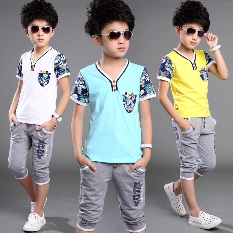 Boys Clothing Sets Cotton Casual Baby Clothes For Boys 2016 Summer Children Sports Suits Boys Clothes Fashion Kids Tracksuits