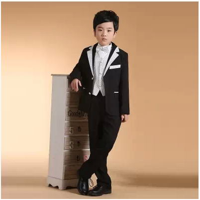 (coat + pants )Swallowtail Kids Suit Boys Wedding Party Dress Sets Children Wedding for Boys' Attire Free Shipping(China (Mainland))
