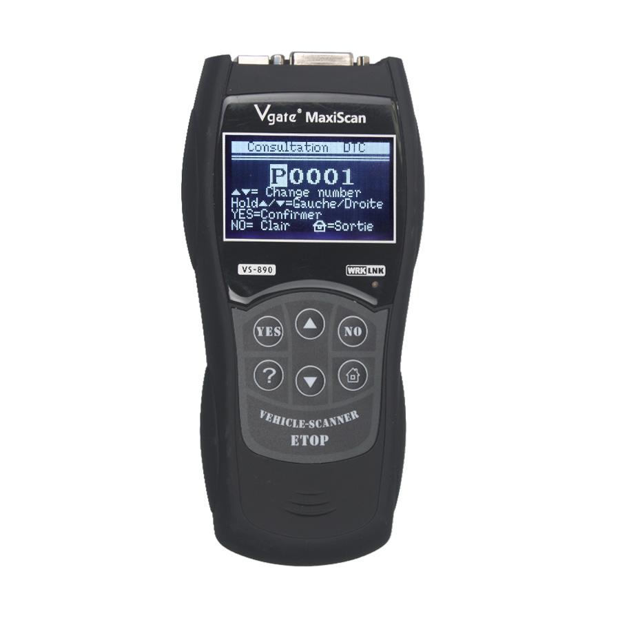 Lowest Price MaxiScan Vgate VS890 OBD2 Code Reader Multi-language VS890 Automotive Diagnostic Tool OBDII EOBD Diagnostic Scanner(China (Mainland))