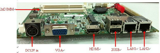 Mini atx motherboard with Onboard 2G RAM with LVDS/VGA (PCM3-N2800em)(China (Mainland))