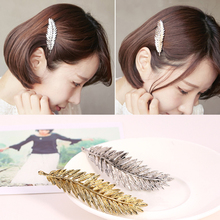 New Fashion Hairclip Charming Women Lady Gold Silver Leaf Hairpin Hair Accessories