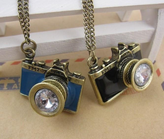 NE8 אופנה וינטג המצלמה השרשרת החדשה סיטונאית קסמי טי. ג ' יי-3.99 abc