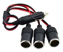 2016 NEW Car Cigarette Lighter 12V 24V Power Charger Adapter 1 to 3 Way Socket Splitter Female Socket Plug Connector Adapter(China (Mainland))