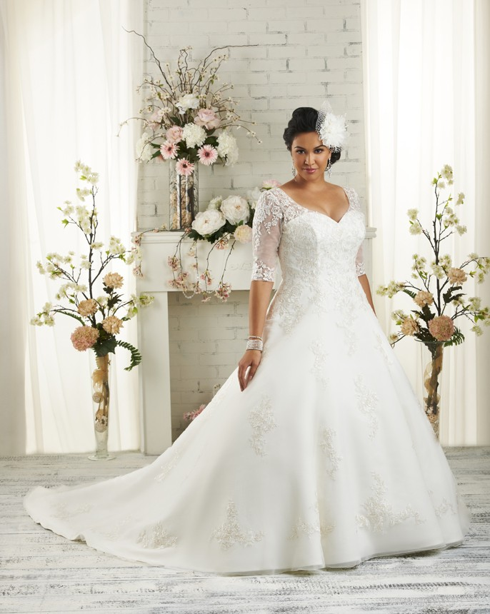 Vnaix W21306 Plus Size Wedding Dress V Neck Half Sleeves Vestido De Noiva Customized Bridal Gown
