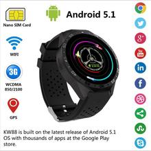 Buy 3G Kingwear KW88 Smart watch PK Finow X5 X61.39'' Amoled 400*400 Smart Watch 3G Calling 2.0MP Camera Pedometer Heart Rate pk x5 for $94.91 in AliExpress store
