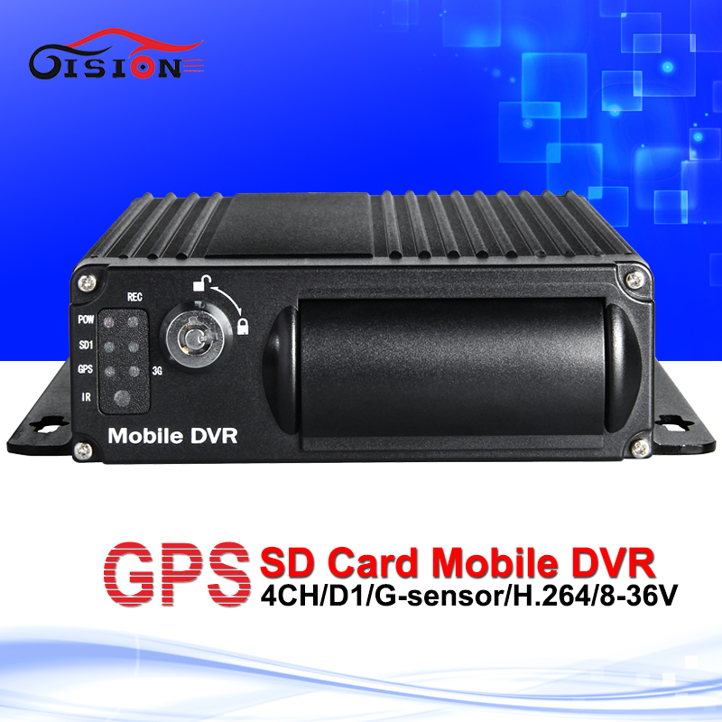 free shipping car mobile dvr Built in GPS Moduel sd mdvr G-sensor Cyclic Recording Motion Detection Vehicle bus truck DVR(China (Mainland))