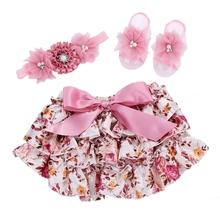 Infant Baby Bloomers Headband Set;Ruffled Panties Baby Girls Shorts;Bolsa Calcinhas Infantil Toddler Ruffle Baby Shorts #L005(China (Mainland))