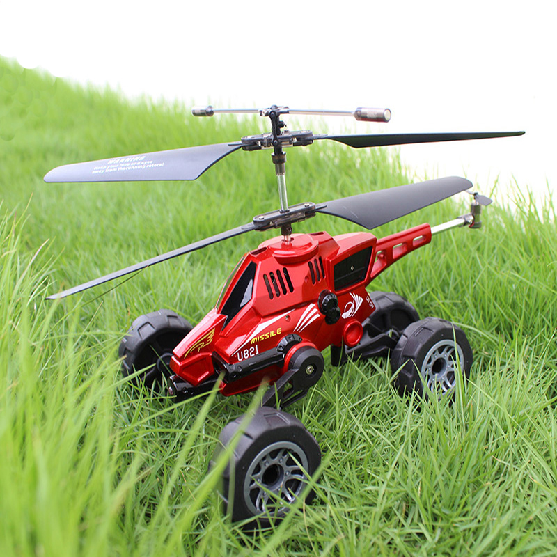 U821 children's mini remote control aircraft 3.5 channel multi-functional air-ground amphibious helicopter toy boy(China (Mainland))