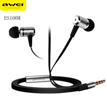 Awei ES100M Super Bass In-ear Wired Earphone with 1.2m Cable Wired Earbuds for iPhone 6 6Plus Xiaomi Tablet PC fone de ouvido