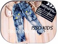 nz161! Новые прибытия детей джинсы прохладно мальчик крылья джинсовые брюки Весна детские случайные штаны и розничная торговля