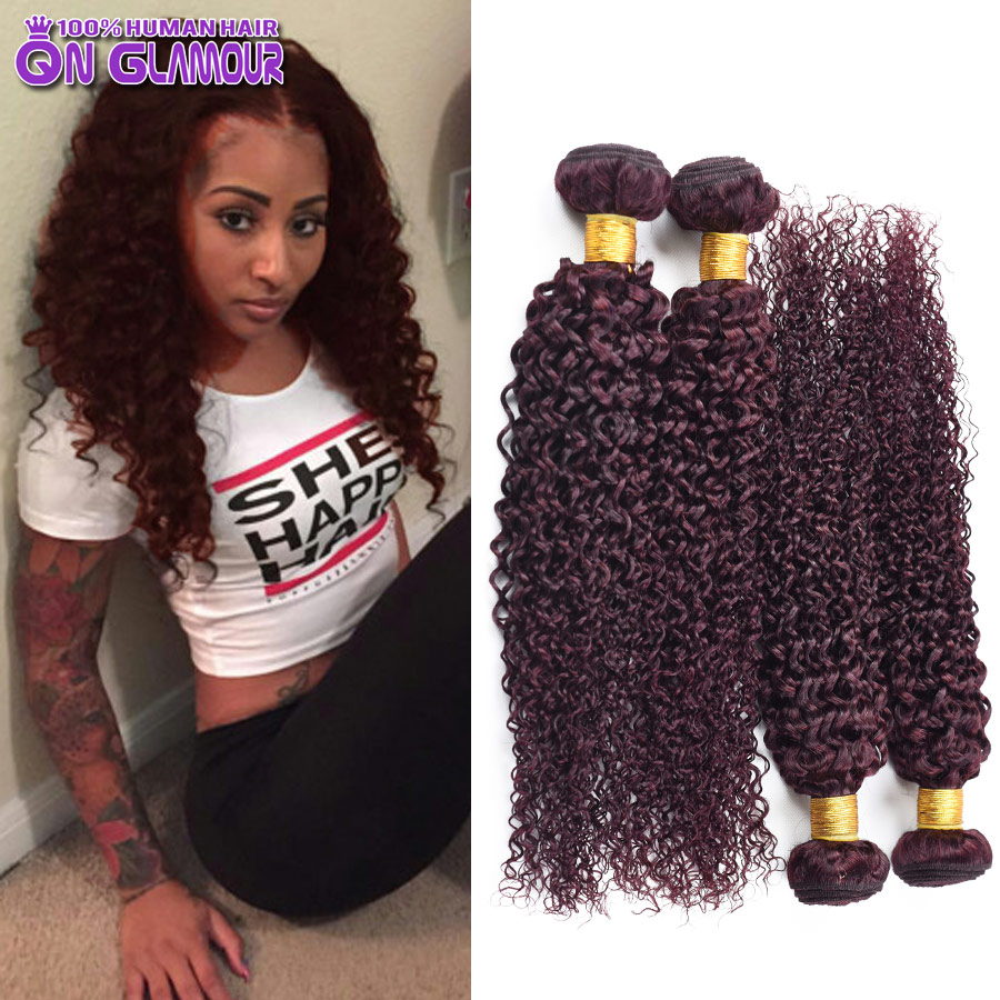 Red Curly Hair Weave For Sale Human Hair Extensions