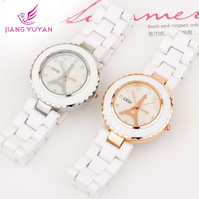 Women Watches Ceramic Bracelet Diamond Women Ladies Wholesale Fashion Charm Style Big Rhinestone Sliver Luxury  Wristwatch<br><br>Aliexpress