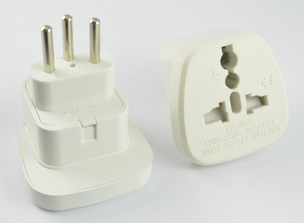 2016 New! Swiss plug to universal socket /Travel Adapter, 2 sockets in one adaptor