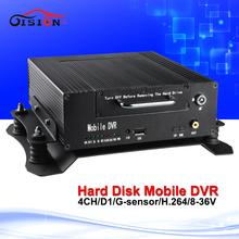 4 канал D1 цифровой видеорегистратор 4CH HD автомобильный видеорегистратор H264 безопасности записи Mdvr поддержка 24 H день / ночь видения ахд камеры