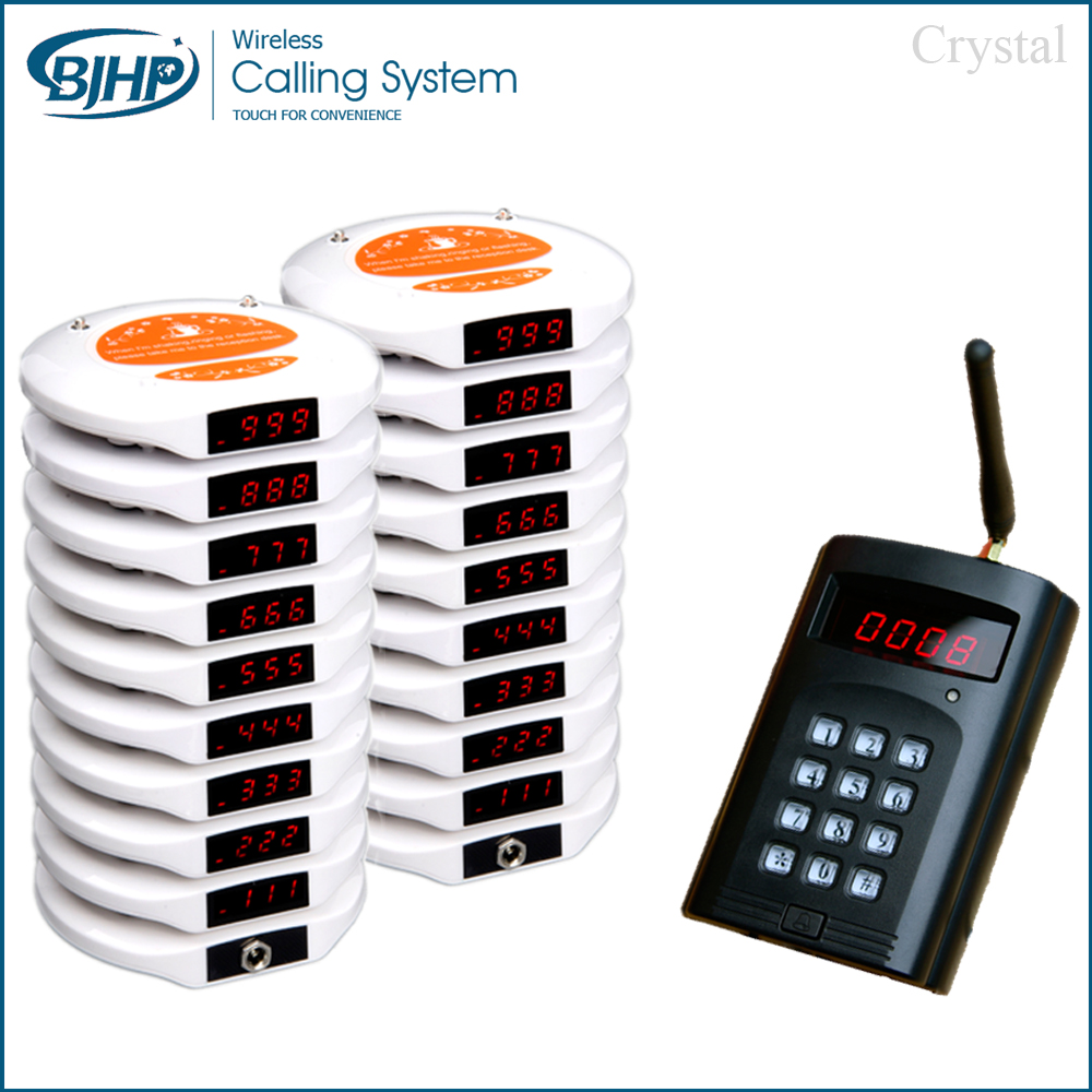 1 transmitter 20 pagers 2 charger waiter call customer Personal pager coaster paging system restaurant queue paging system(China (Mainland))