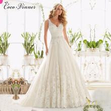 Buy C.V 2017 New Vestido De Noiva Line Lace Wedding Dresses V Neck Beaded Sash Backless Sexy Vintage Bridal Gowns Vestido De Noiva for $86.40 in AliExpress store