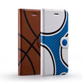Momax Fashion Sport Basketball Football Stand Leather Case Flip for iPhone 6 Covers Phone Cases Cell