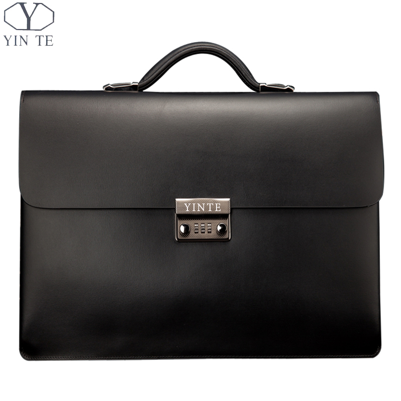 Free Shipping Luxury High Class Men's Genuine Leather Briefcase Thicker Section Biggest Business Offcie Messenger Lawyer Bag(China (Mainland))