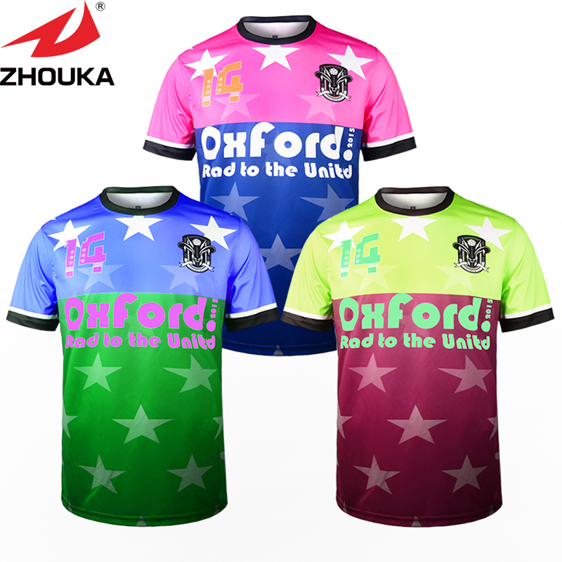 New Pattern Design Custom Your Team Soccer Jersey Sublimation soccer cloth football shirt(China (Mainland))