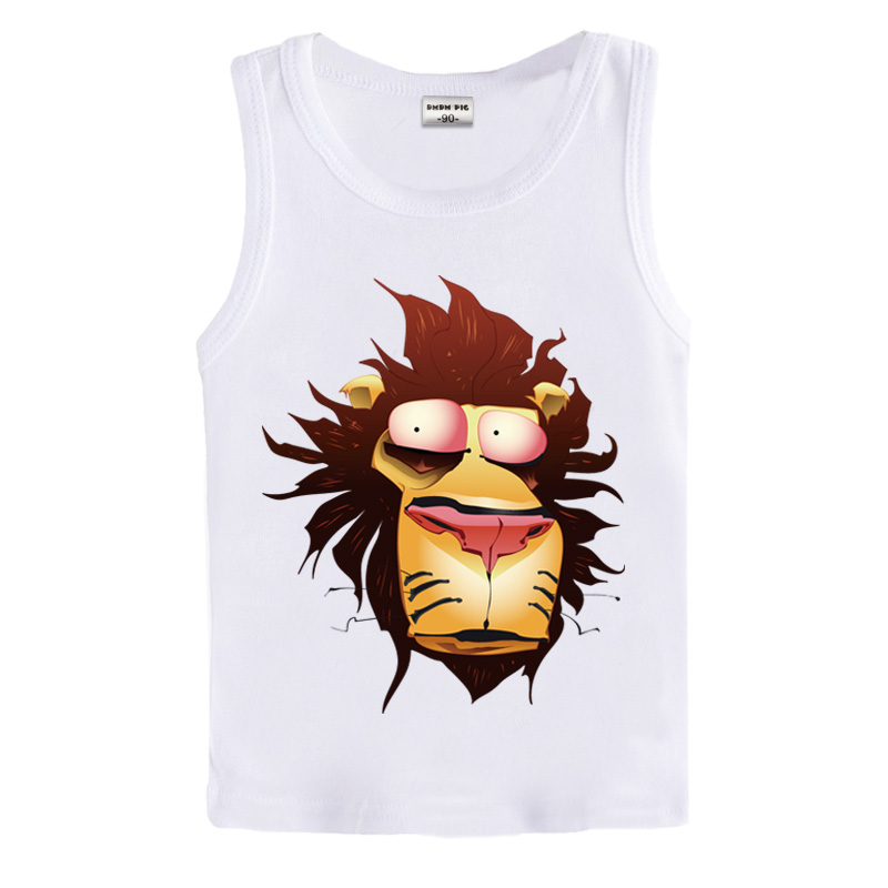 dmdm pig 2016 New Children T-Shirt Sleeveless Cotton Ttrawberry Print Red Kids Vest Infant Tees Casual Girl T-Shirt DS0054(China (Mainland))