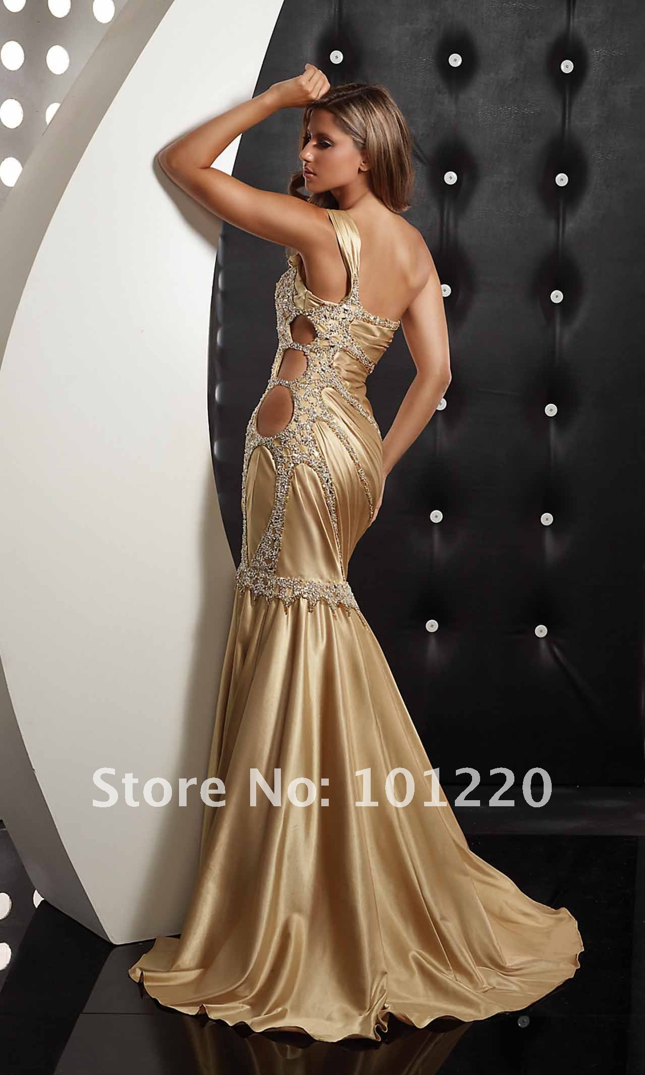 The gallery for Gold Mermaid Wedding Dresses