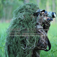 Woodland military jungle camouflage net 80*90cm hunting blind ghillie suit hat burlap camo net for hunting military army (China (Mainland))