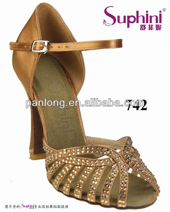 Suphini New Released Latin Shoes, Rhinestone Dance Shoe, Lady Salsa Dance Shoes