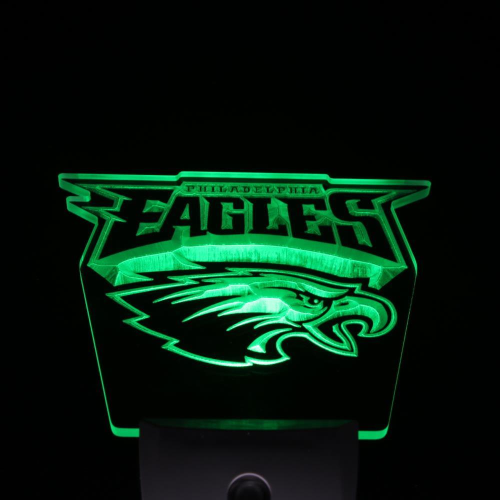 ws0052 Philadelphia Eagles Football Day/ Night Sensor Led Night Light Sign(China (Mainland))