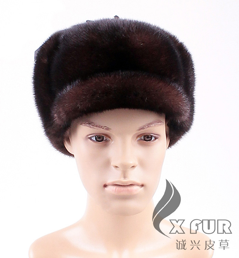 CX-C-144B  Real Mink Fur Custom Russia Winter Men HatОдежда и ак�е��уары<br><br><br>Aliexpress