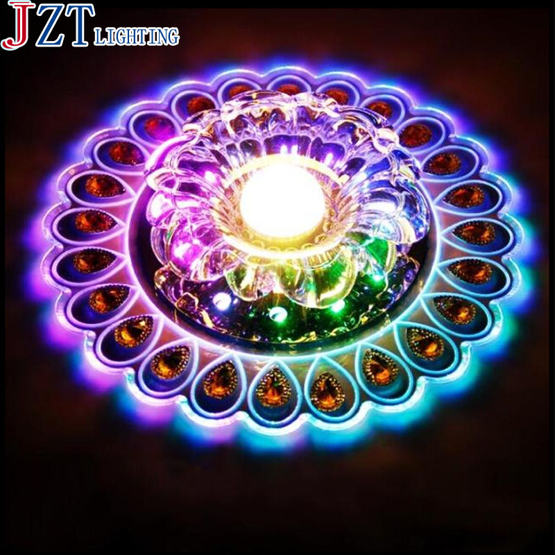 M Open/Covered Installation Lamp Colored K9 Crystal Round Ceiling Light Clear Crystal Living Room Corridor Decoration Beautiful(China (Mainland))