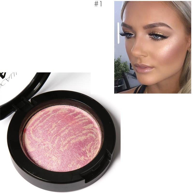 DoreenBeads Makeup Baked Blush Palette Baked Cheek Color Blushers Makeup Blush maquiagem 1PCs(China (Mainland))