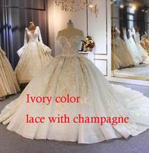 יוקרה ואגלי שמלות כלה כבויה ארוך רכבת 2019 חדש כלה שמלת novias(China)