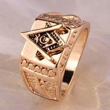 Buy Freeshipping high Fashion Unisex Square Free Mason Freemasonry Masonic Finger Ring Men Women 7sizes for $1.45 in AliExpress store