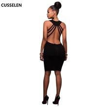 Buy Black Casual Dress Women Black Midi Dress Sleeveless Cotton Punk Gothic Halter Dress Sexy Cloth Party Short Beach Dress Summer