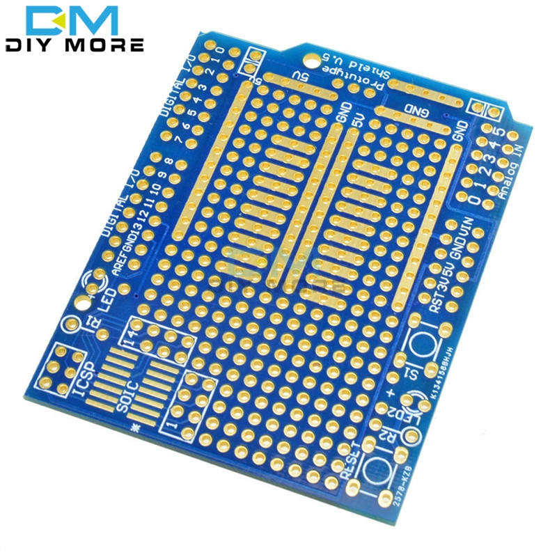 Prototype PCB Board For Arduino UNO R3 Shield Board FR-4 Fiber 2mm 2.54mm Pitch DIY(China (Mainland))